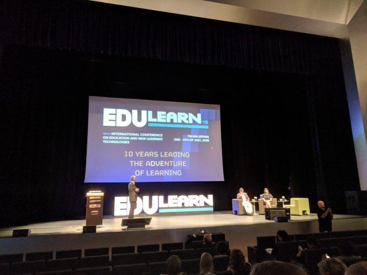 Teilnahme und Präsentation auf der EDULEARN18 in Palma de Mallorca